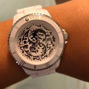 Toy Watch • White & Silver